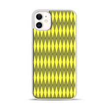 Load image into Gallery viewer, Gold, Diamond, Checkerboard iPhone 11 Case.jpg, White Plastic Case | Webluence.com