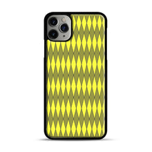 Load image into Gallery viewer, Gold, Diamond, Checkerboard iPhone 11 Pro Max Case.jpg, Black Plastic Case | Webluence.com
