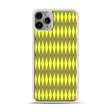 Load image into Gallery viewer, Gold, Diamond, Checkerboard iPhone 11 Pro Max Case.jpg, White Plastic Case | Webluence.com