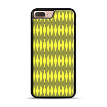 Load image into Gallery viewer, Gold, Diamond, Checkerboard iPhone 7 Plus/8 Plus Case, Black Plastic Case | Webluence.com