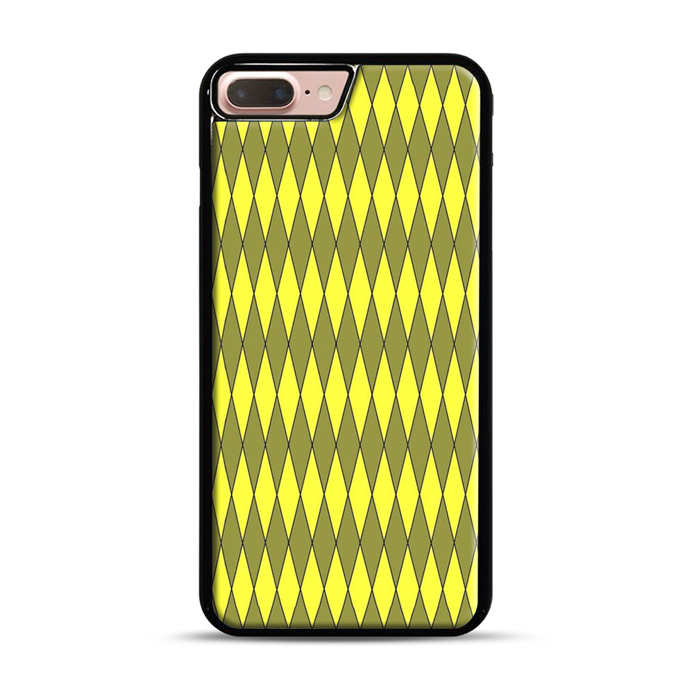 Gold, Diamond, Checkerboard iPhone 7 Plus/8 Plus Case, Black Plastic Case | Webluence.com