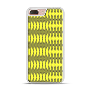 Gold, Diamond, Checkerboard iPhone 7 Plus/8 Plus Case, White Rubber Case | Webluence.com