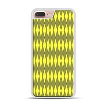 Load image into Gallery viewer, Gold, Diamond, Checkerboard iPhone 7 Plus/8 Plus Case, White Plastic Case | Webluence.com