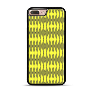 Gold, Diamond, Checkerboard iPhone 7 Plus/8 Plus Case, Black Rubber Case | Webluence.com