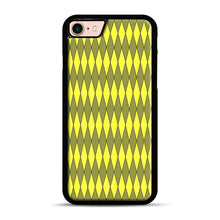 Load image into Gallery viewer, Gold, Diamond, Checkerboard iPhone 7/8 Case.jpg, Black Plastic Case | Webluence.com