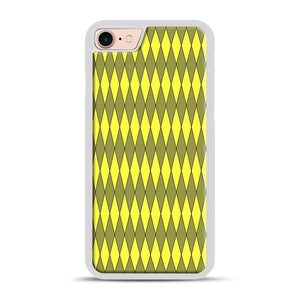Gold, Diamond, Checkerboard iPhone 7/8 Case.jpg, White Rubber Case | Webluence.com