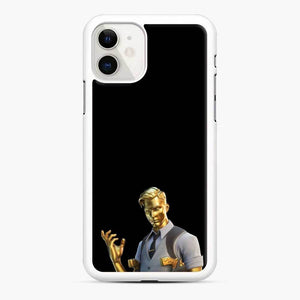 Goldmidas Fortnite iPhone 11 Case, White Rubber Case