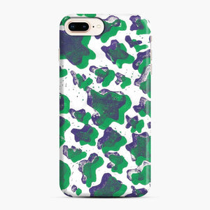 Green And Purple Cow Print iPhone 7 Plus / 8 Plus Case