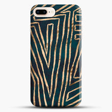 Load image into Gallery viewer, Green & Gold Aztec Lines iPhone 7 Plus/8 Plus Case, Snap Case | Webluence.com