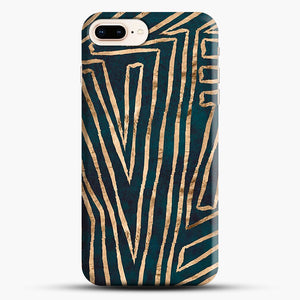 Green & Gold Aztec Lines iPhone 7 Plus/8 Plus Case, Snap Case | Webluence.com