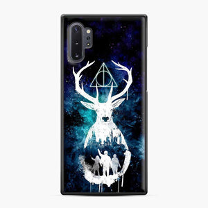 Harry Potter Silhouette Deathly Hallows Samsung Galaxy Note 10 Plus Case, Black Plastic Case