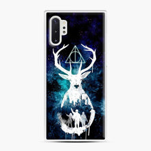 Load image into Gallery viewer, Harry Potter Silhouette Deathly Hallows Samsung Galaxy Note 10 Plus Case, White Plastic Case