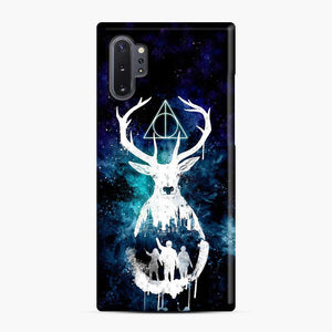 Harry Potter Silhouette Deathly Hallows Samsung Galaxy Note 10 Plus Case, Snap Case