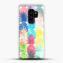 Load image into Gallery viewer, Hawaiian Pineapple Pattern Tropical Watercolor Samsung Galaxy S9 Plus Case, Snap Case | Webluence.com