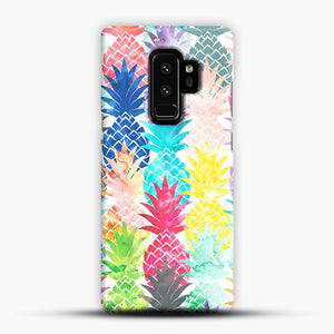 Hawaiian Pineapple Pattern Tropical Watercolor Samsung Galaxy S9 Plus Case, Snap Case | Webluence.com