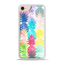 Load image into Gallery viewer, Hawaiian Pineapple Pattern Tropical Watercolor iPhone 7/8 Case.jpg, White Rubber Case | Webluence.com