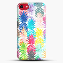Load image into Gallery viewer, Hawaiian Pineapple Pattern Tropical Watercolor iPhone 7/8 Case.jpg, Snap Case | Webluence.com