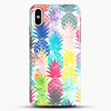 Load image into Gallery viewer, Hawaiian Pineapple Pattern Tropical Watercolor iPhone X/XS Case, Snap Case | Webluence.com