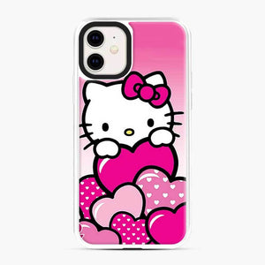 Hello Kitty Cute Falling in Love 2 iPhone 11 Case, White Plastic Case