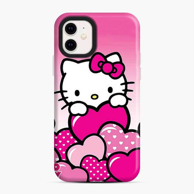 Hello Kitty Cute Falling in Love 2 iPhone 11 Case, Snap Case