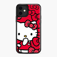 Load image into Gallery viewer, Hello Kitty Red Love iPhone 11 Case, Black Plastic Case