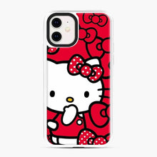 Load image into Gallery viewer, Hello Kitty Red Love iPhone 11 Case, White Plastic Case