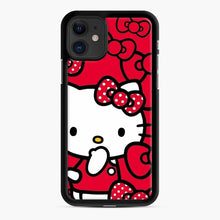 Load image into Gallery viewer, Hello Kitty Red Love iPhone 11 Case, Black Rubber Case