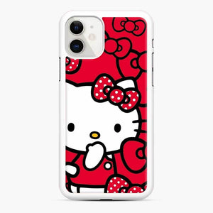 Hello Kitty Red Love iPhone 11 Case, White Rubber Case