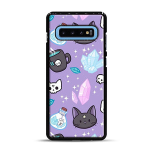 Herb Witch Samsung Galaxy S10 Plus Case, Black Rubber Case | Webluence.com