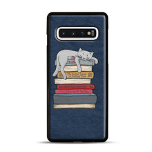 Load image into Gallery viewer, How to Chill Like a Cat Samsung Galaxy S10 Case, Black Rubber Case | Webluence.com