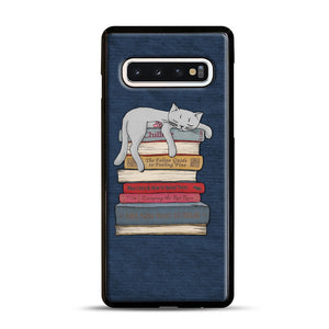 How to Chill Like a Cat Samsung Galaxy S10 Case, Black Rubber Case | Webluence.com