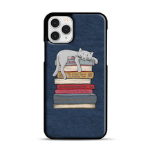 Load image into Gallery viewer, How to Chill Like a Cat iPhone 11 Pro Case, Black Rubber Case | Webluence.com