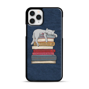 How to Chill Like a Cat iPhone 11 Pro Case, Black Rubber Case | Webluence.com