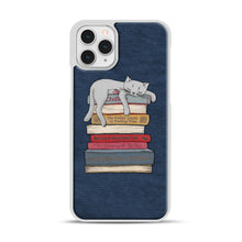 Load image into Gallery viewer, How to Chill Like a Cat iPhone 11 Pro Case, White Rubber Case | Webluence.com