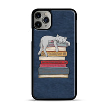 Load image into Gallery viewer, How to Chill Like a Cat iPhone 11 Pro Max Case.jpg, Black Plastic Case | Webluence.com
