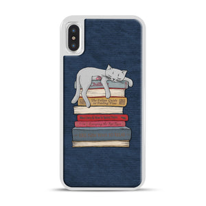 How to Chill Like a Cat iPhone X/XS Case, White Rubber Case | Webluence.com