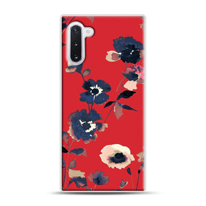 Ikebana Flower Pattern Samsung Galaxy Note 10 Case, White Rubber Case | Webluence.com