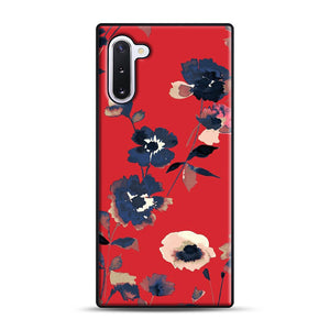 Ikebana Flower Pattern Samsung Galaxy Note 10 Case, Black Rubber Case | Webluence.com