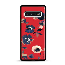 Load image into Gallery viewer, Ikebana Flower Pattern Samsung Galaxy S10 Case, Black Rubber Case | Webluence.com