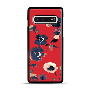 Ikebana Flower Pattern Samsung Galaxy S10 Case, Black Rubber Case | Webluence.com