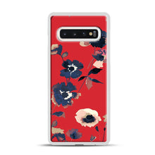 Load image into Gallery viewer, Ikebana Flower Pattern Samsung Galaxy S10 Case, White Plastic Case | Webluence.com