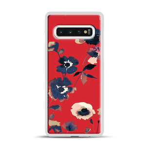 Ikebana Flower Pattern Samsung Galaxy S10 Case, White Rubber Case | Webluence.com