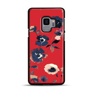 Ikebana Flower Pattern Samsung Galaxy S9 Case, Black Rubber Case | Webluence.com