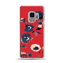 Load image into Gallery viewer, Ikebana Flower Pattern Samsung Galaxy S9 Case, White Rubber Case | Webluence.com
