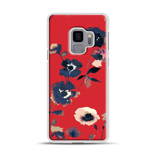 Ikebana Flower Pattern Samsung Galaxy S9 Case, White Rubber Case | Webluence.com