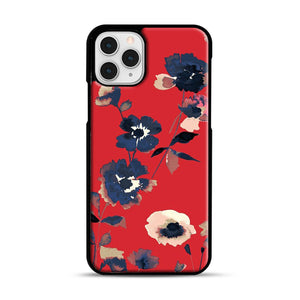 Ikebana Flower Pattern iPhone 11 Pro Case, Black Rubber Case | Webluence.com