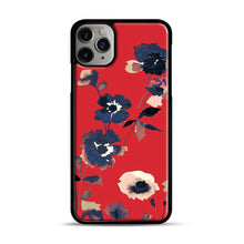 Load image into Gallery viewer, Ikebana Flower Pattern iPhone 11 Pro Max Case.jpg, Black Plastic Case | Webluence.com