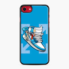 Load image into Gallery viewer, Jordan 1 Off White Arrow Blue iPhone 11 Pro Max Case