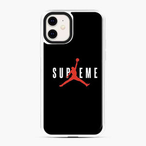 Jordan Shoes Supreme Logo Red iPhone 11 Case