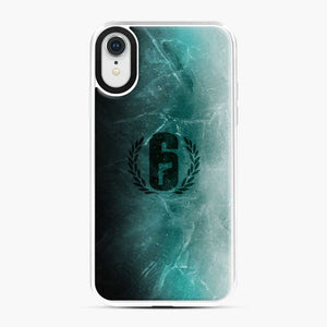 Jtf2 Black Ice R6 iPhone XR Case, White Plastic Case